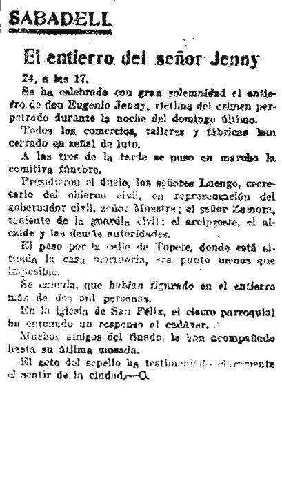 La Publicidad del dia 25 de febrer del 1920.