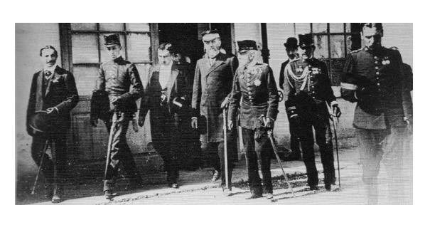 Visita d'Alfons XIII àlies el cametes per l'alçada a Sabadell al 1904 tenia 18 anys